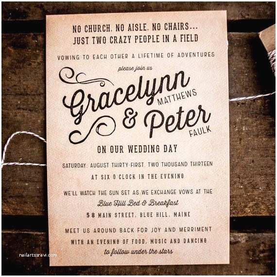 Outdoor Wedding Invitations Best 25 Casual Wedding Invitation Wording Ideas On Pinterest