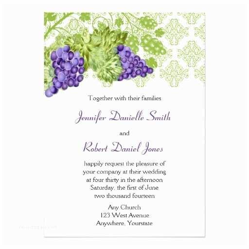Outdoor Wedding Invitations Grapevine Garden Wedding Invitation