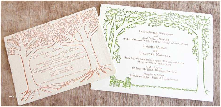 Outdoor Wedding Invitations Handmade Paper Outdoor Wedding Invitation Tiny Pine Press