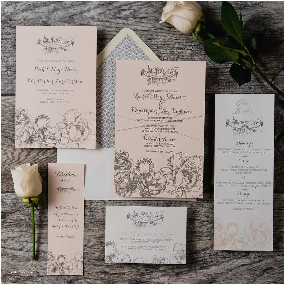 Outdoor Wedding Invitations Our Rose Garden Wedding Invitation Suite Was Featured