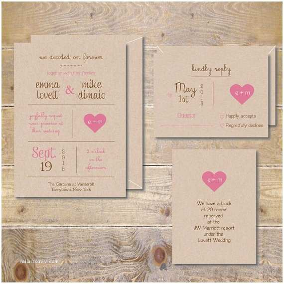 Outdoor Wedding Invitations Printable Wedding Invitations Diy Wedding Invitations