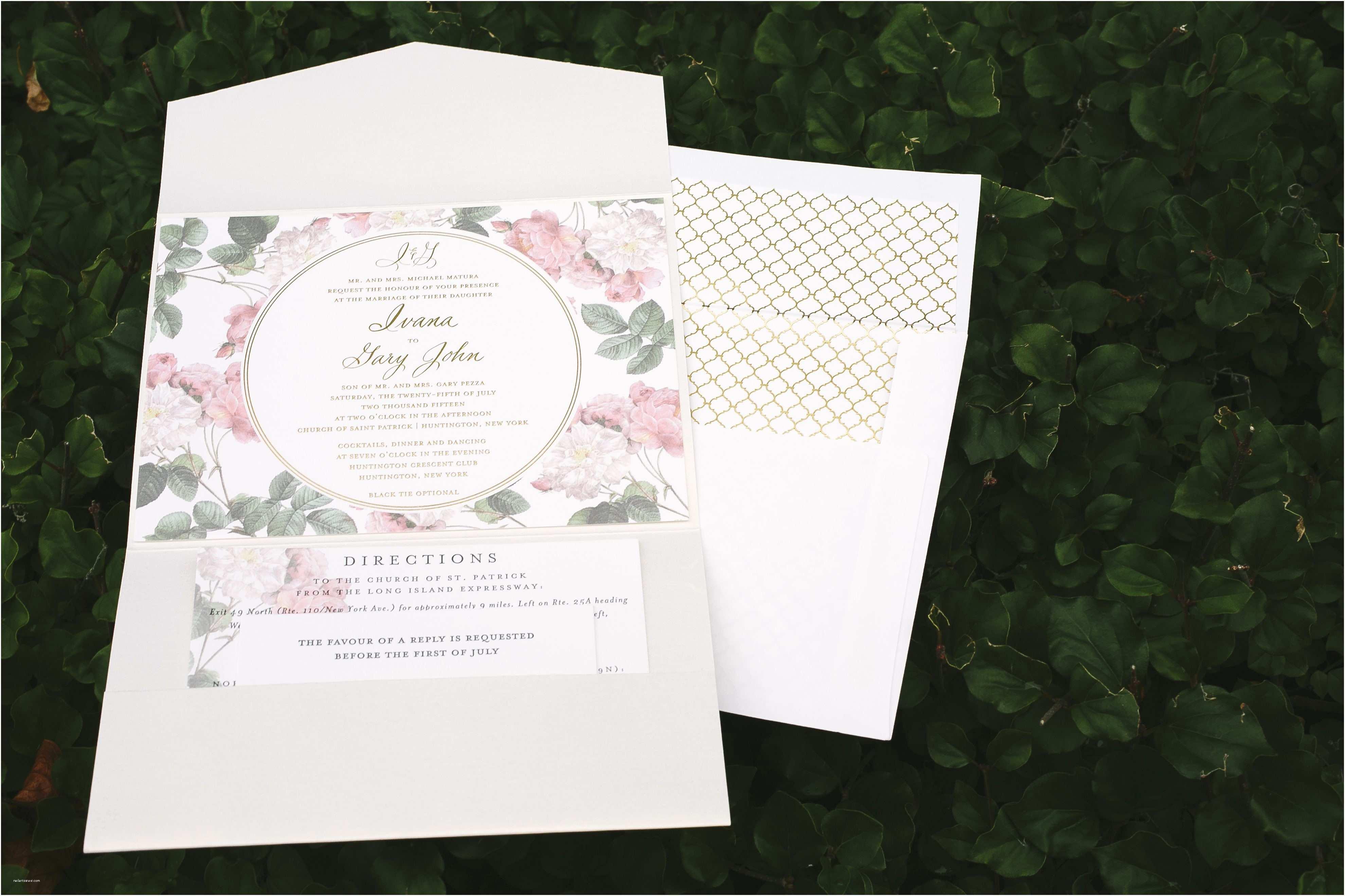 Outdoor Wedding Invitations Romantic Floral Foil Garden Wedding Invitations Bella