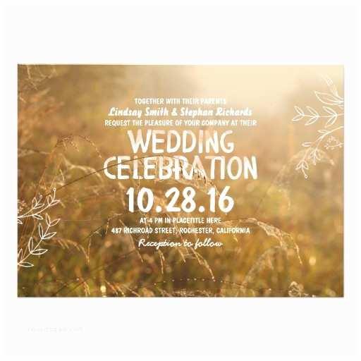 Outdoor Wedding Invitations Romantic Outdoor Wedding Invitations
