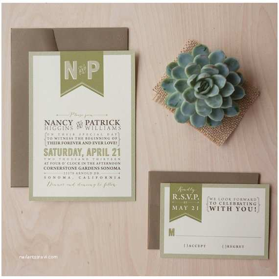 Outdoor Wedding Invitations Rustic Wedding Invitation Outdoor Wedding by Jensimpsondesign