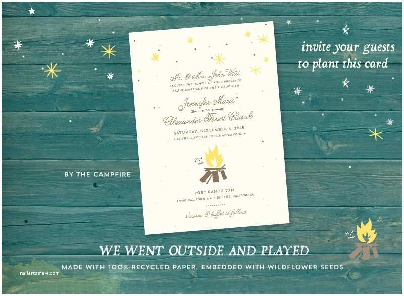 Outdoor Wedding Invitations Unique Outdoor Wedding Invitations On Plantable Paper by