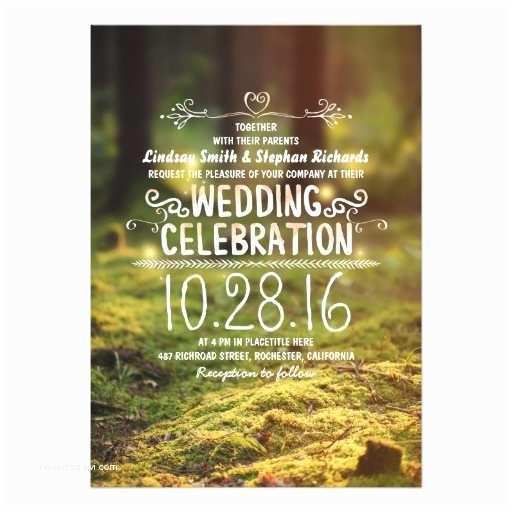 Outdoor Wedding Invitations Woodland Rustic Outdoor Wedding Invitations