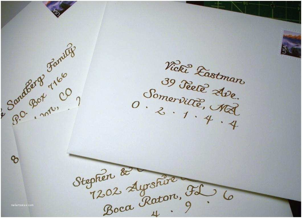 Outer Envelopes for Wedding Invitations From the ash Tree Meadow Calligraphy for My Best