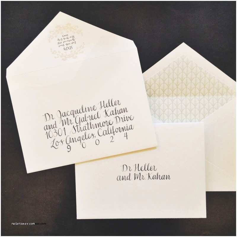 Outer Envelopes for Wedding Invitations Wedding Invitation Elegant Outer Envelope Wedding