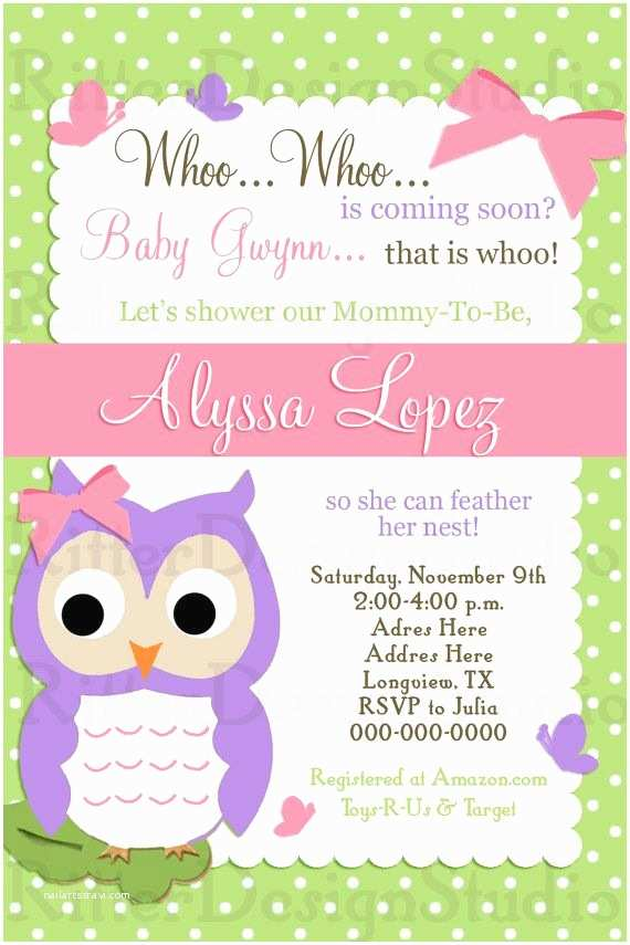 Owl Baby Girl Shower Invitations 30 Best Baby Shower Invitations Images On Pinterest
