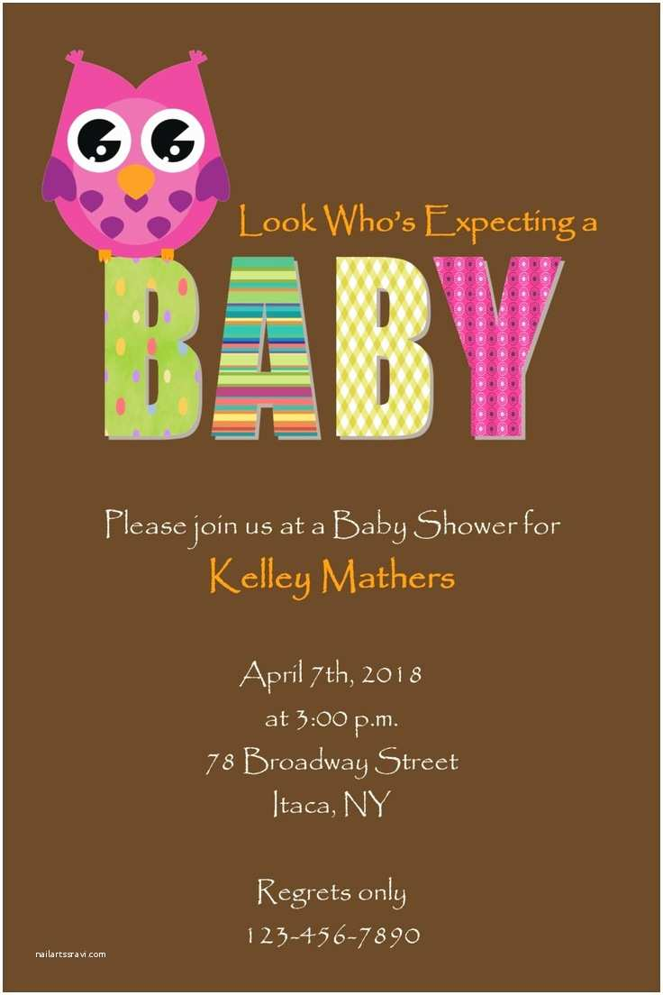 Owl Baby Girl Shower Invitations Owl Girl Baby Shower Invitation Diy Digital Print