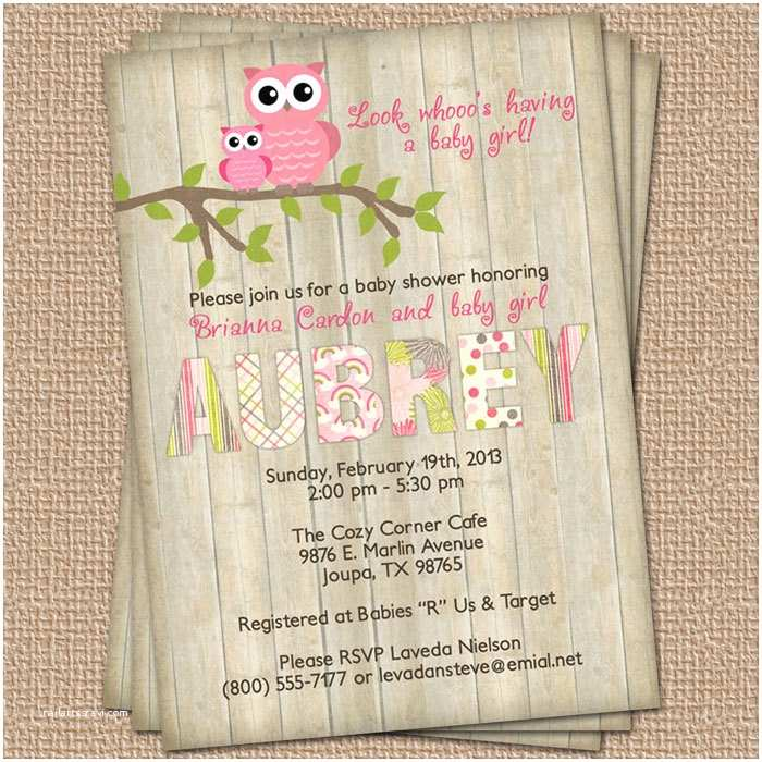 Owl Baby Shower Invitations Baby Shower Invite Ideas