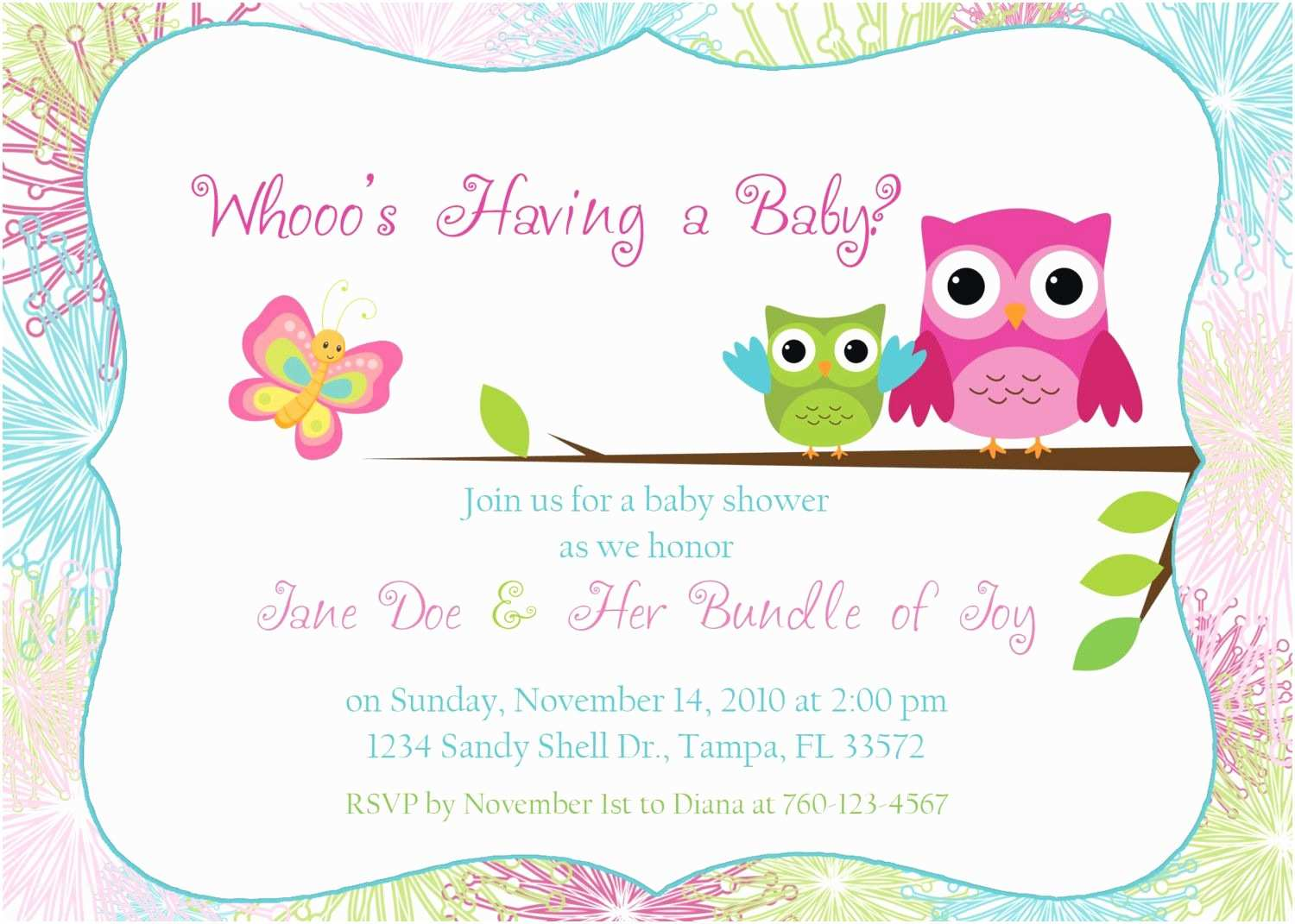Owl Baby Shower Invitations Owl Baby Shower Invitation by Designsbyoccasion On Etsy