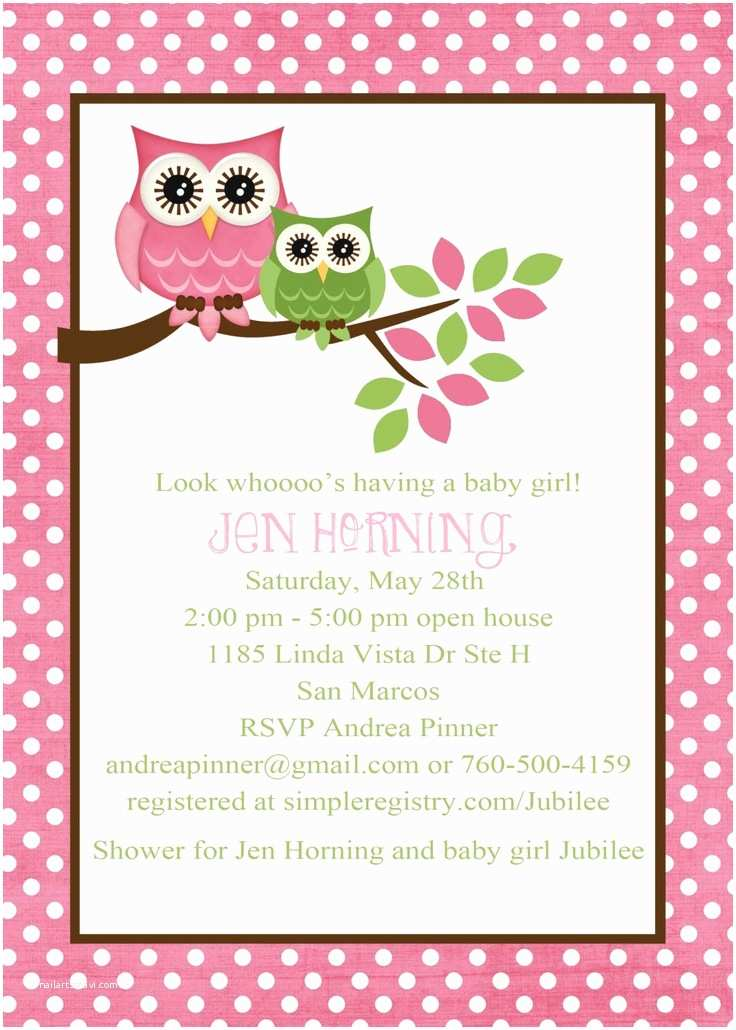 Owl Baby Shower Invitations Owl Baby Shower Invitation Owl First Birthday Baby Girl