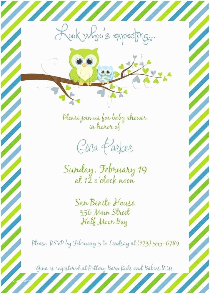 Owl Baby Shower Invitations Owl Baby Shower