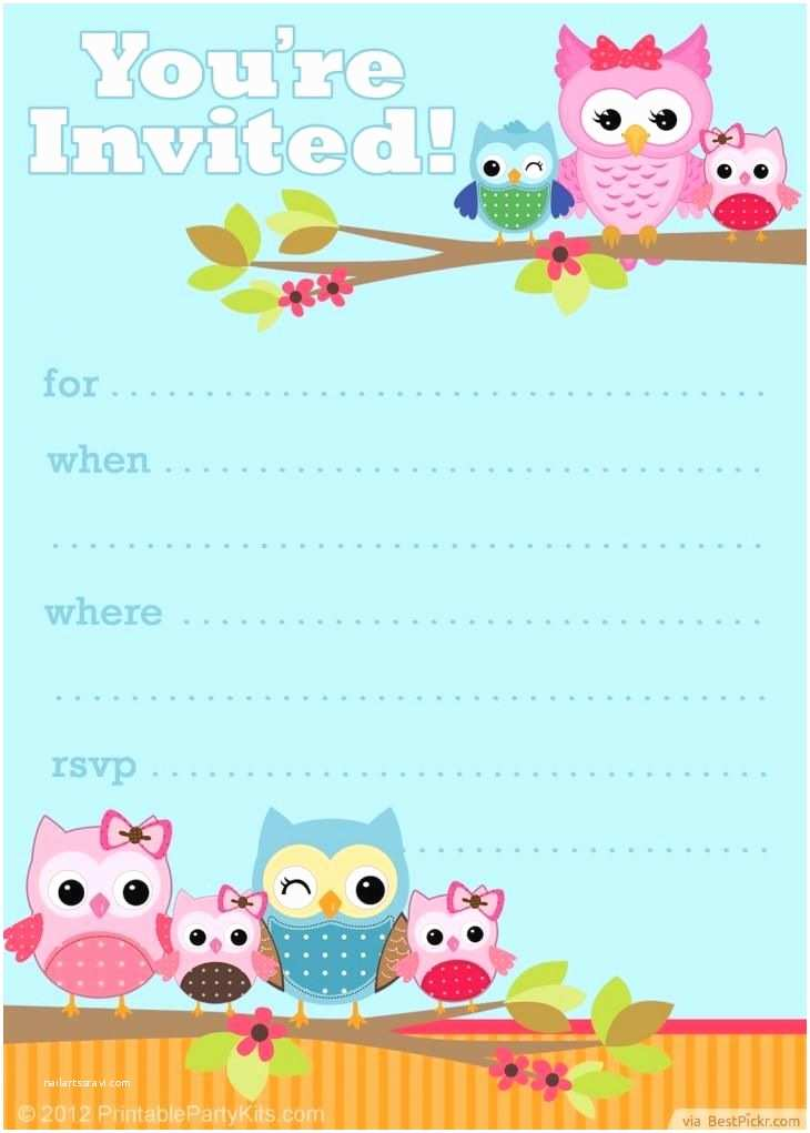Owl Birthday Invitations Free Printable Owl Party Invitation Template
