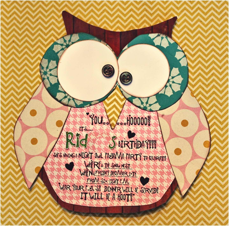 Owl Birthday Invitations Snowybliss Night Owl Party