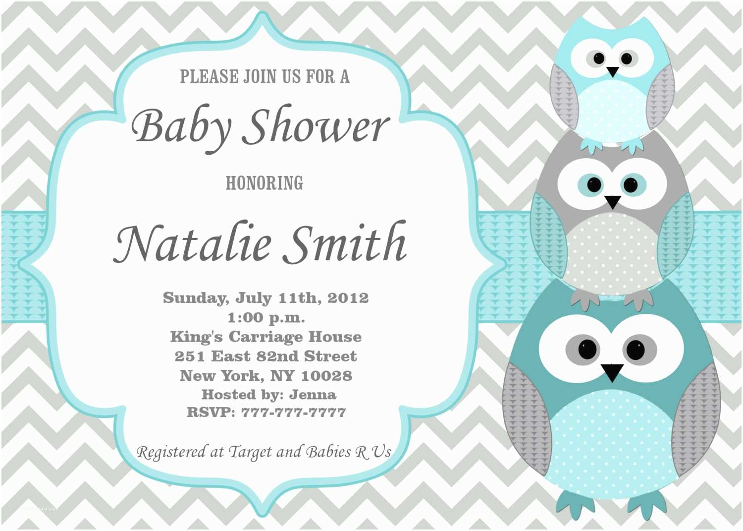Owl Invitations for Baby Shower Baby Shower Invitations Owl theme