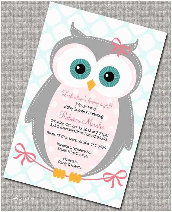 Owl Invitations for Baby Shower Best 25 Owl Invitations Ideas On Pinterest