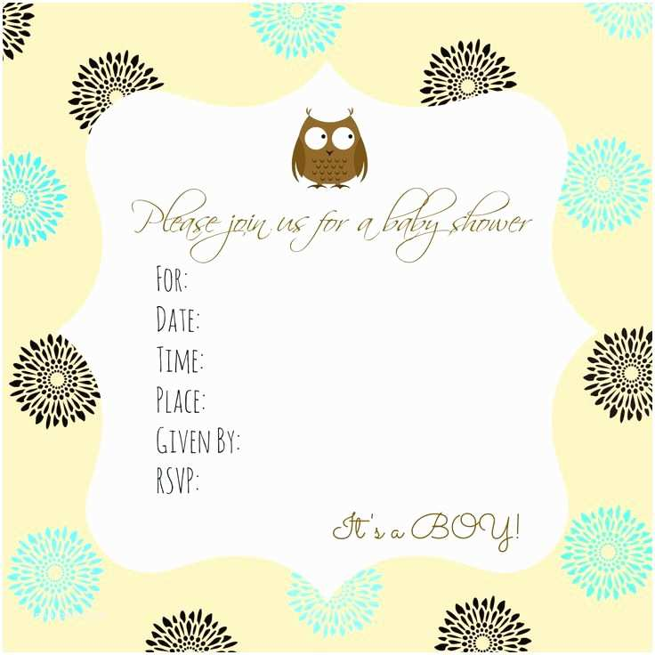 Owl Invitations for Baby Shower Free Printable Owl Baby Shower Invitations