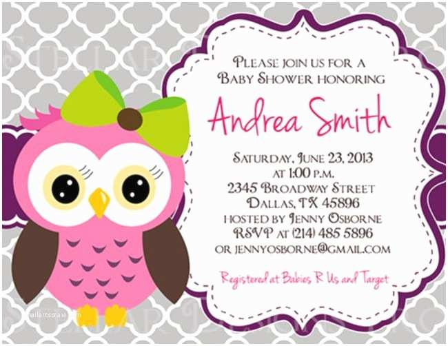 Owl Invitations for Baby Shower Most Popular Owl Baby Shower Invitations This Year