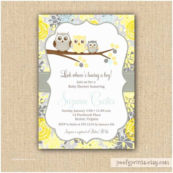 Owl Invitations for Baby Shower Owl Baby Shower Invitations Diy Printable Baby Boy
