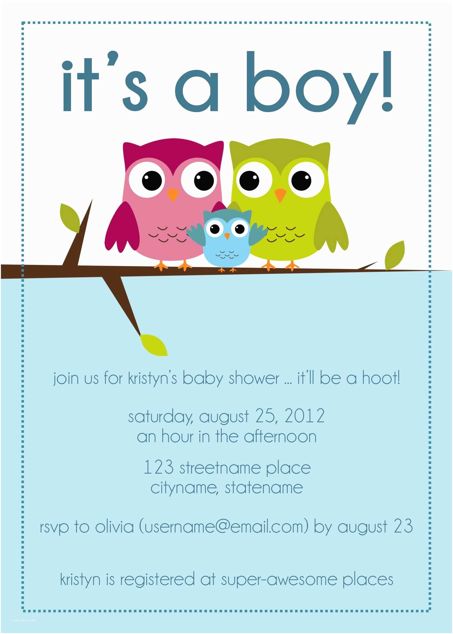 Owl Invitations for Baby Shower Owl Baby Shower Invitations Image