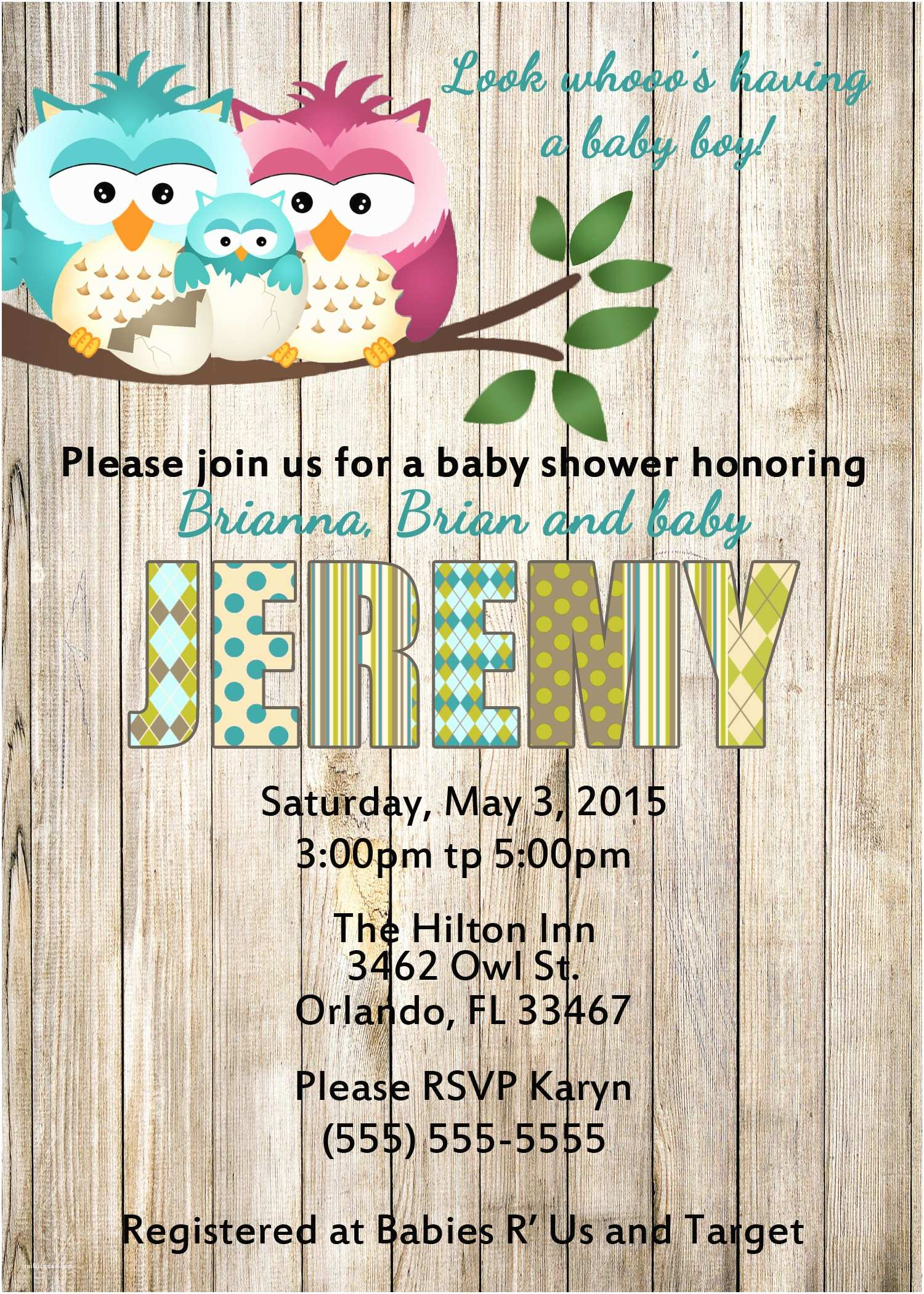 Owl Invitations for Baby Shower Owl Baby Shower Invitations