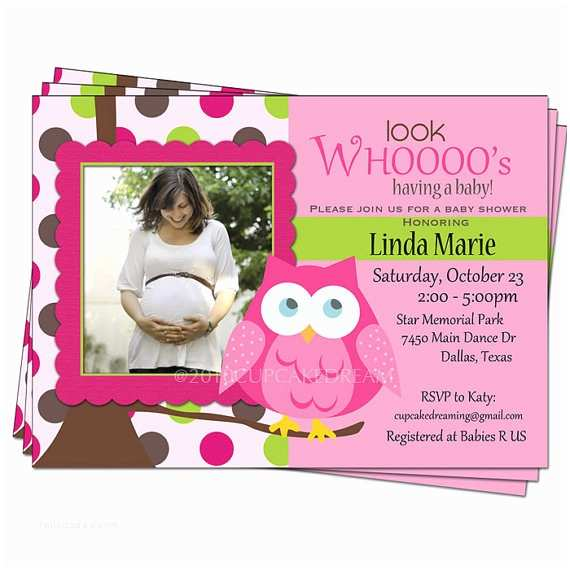 Owl Invitations for Baby Shower Owl themed Baby Shower Invitations Template