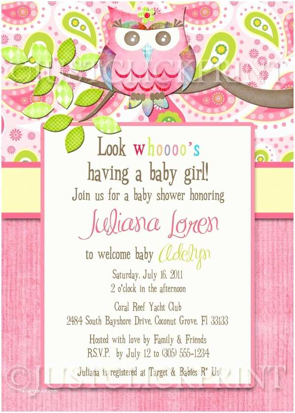 Owl Invitations for Baby Shower Paisley Owl Look whooos Having A Baby Shower Invitation
