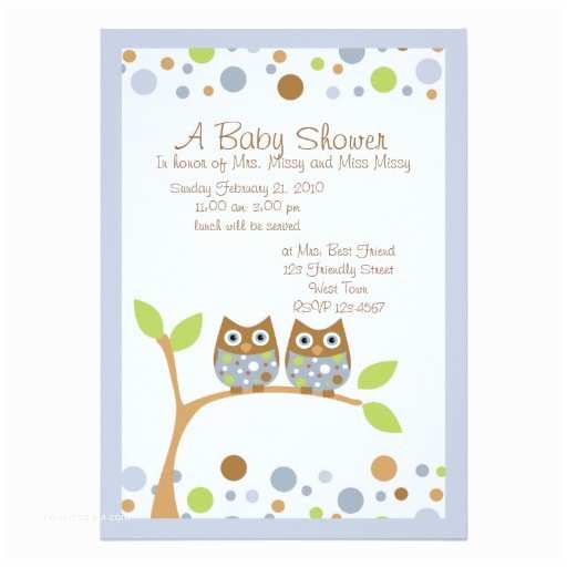 Owl Invitations for Baby Shower Personalized Owl Baby Invitations