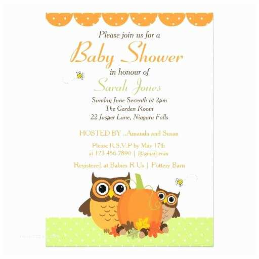 Owl themed Baby Shower Invitations Owl Baby Shower Invitations