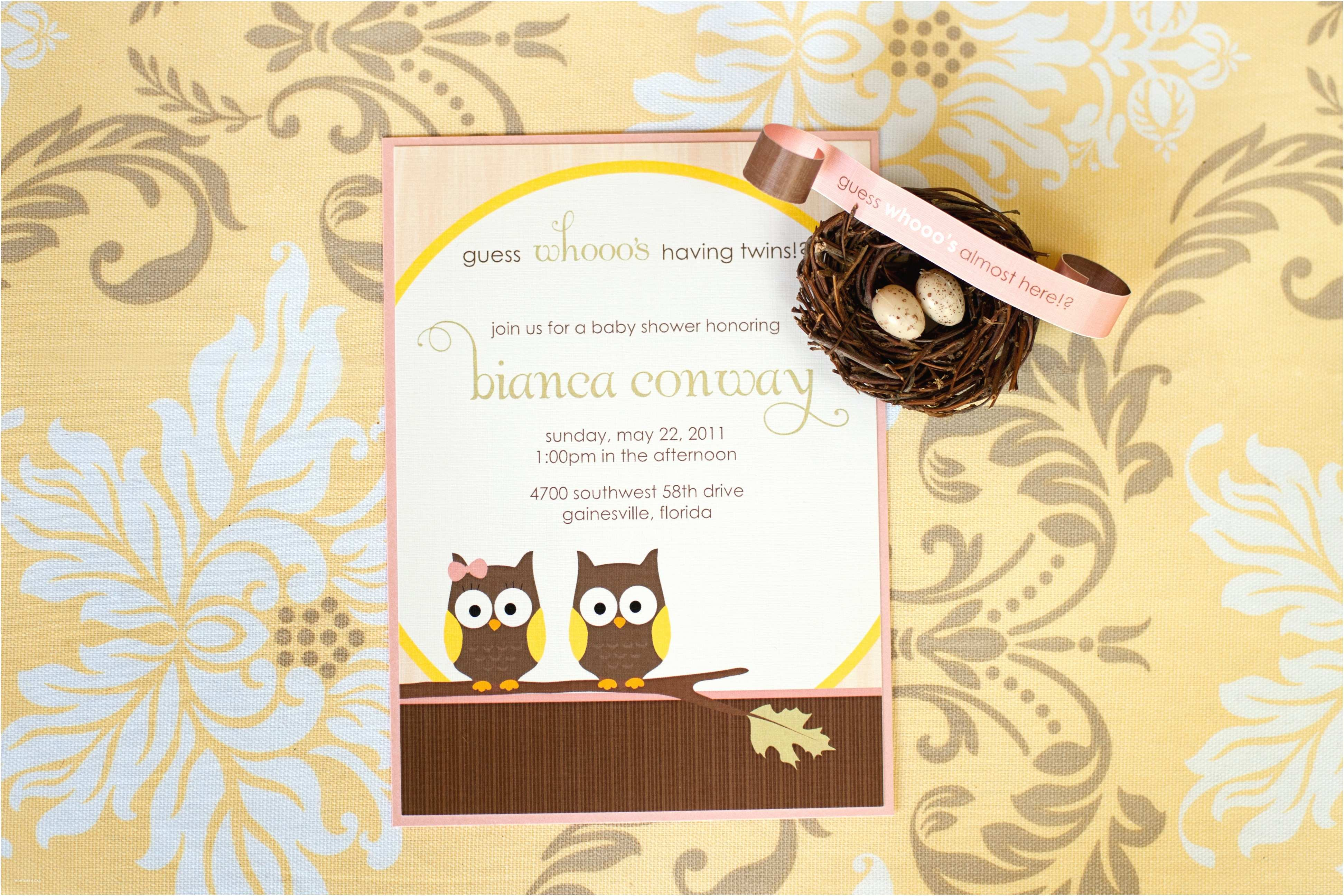 Owl themed Baby Shower Invitations Owl themed Baby Shower by Verve Studio