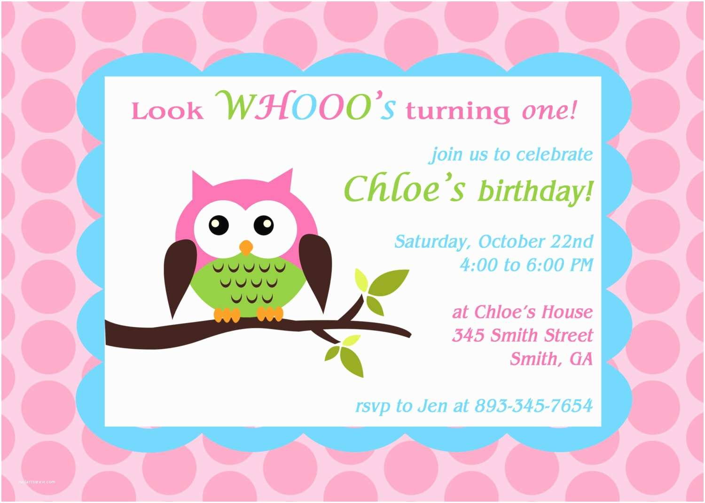 Owl themed Baby Shower Invitations Printable Owl theme Birthday Party Invitation