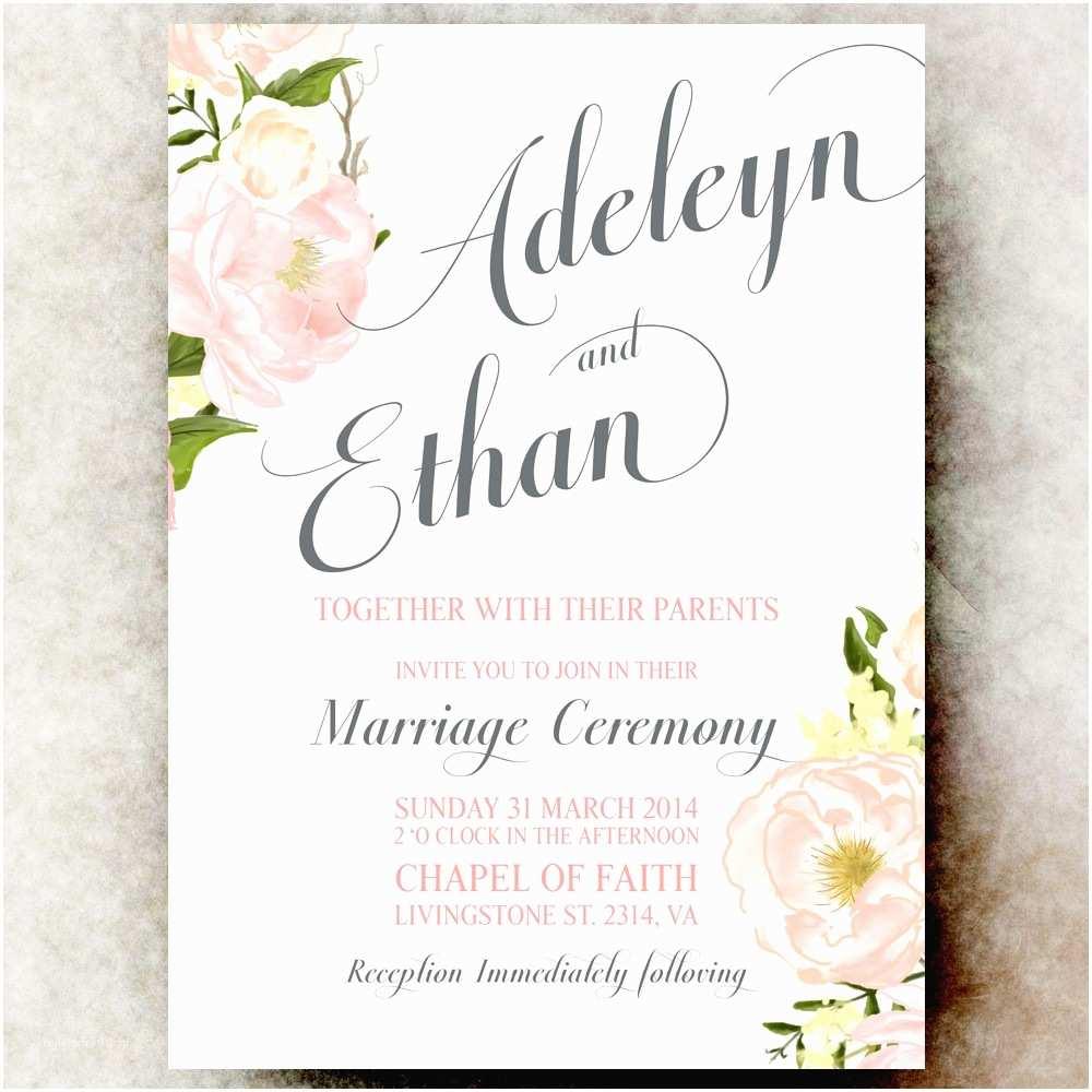 Page Wedding Invitations Floral Wedding Invitations Floral Wedding Invitations by