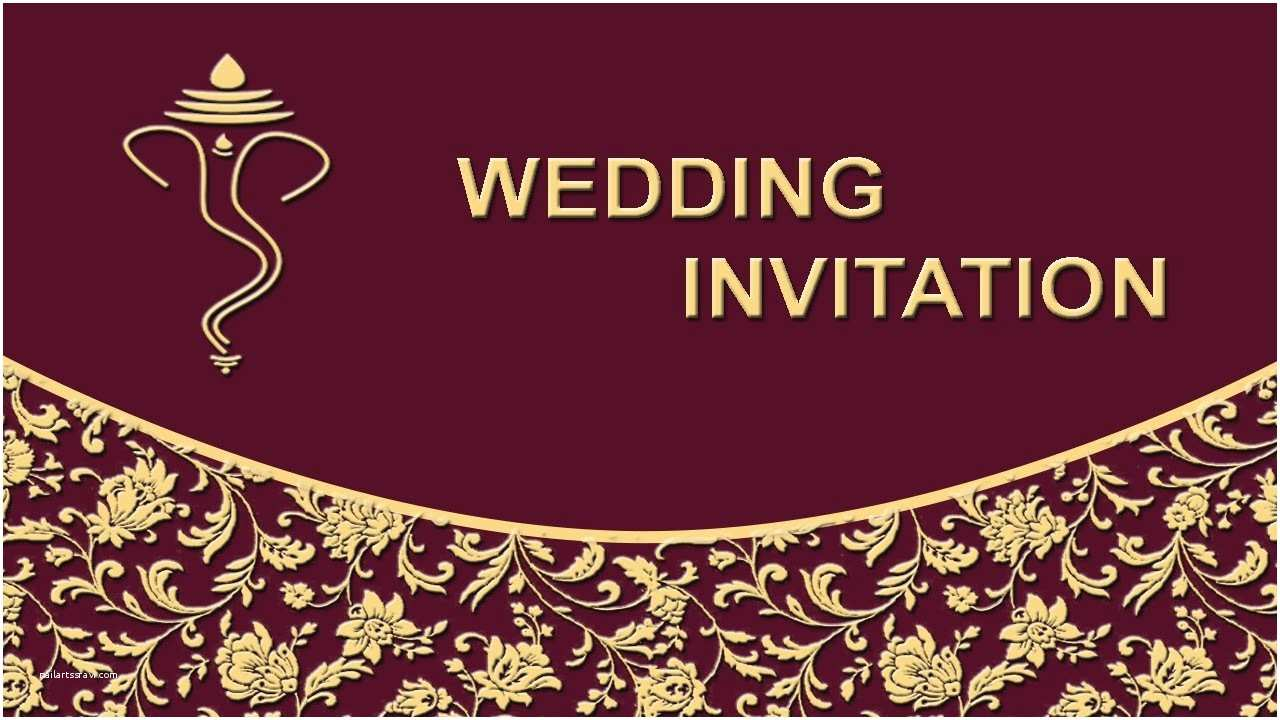 Page Wedding Invitations How to Create Wedding Invitation Card Front Page In