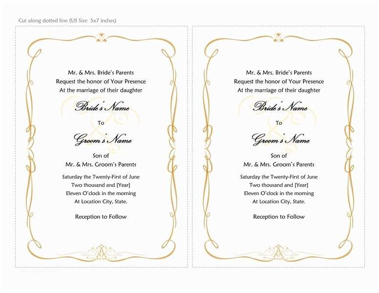 invitations wedding template