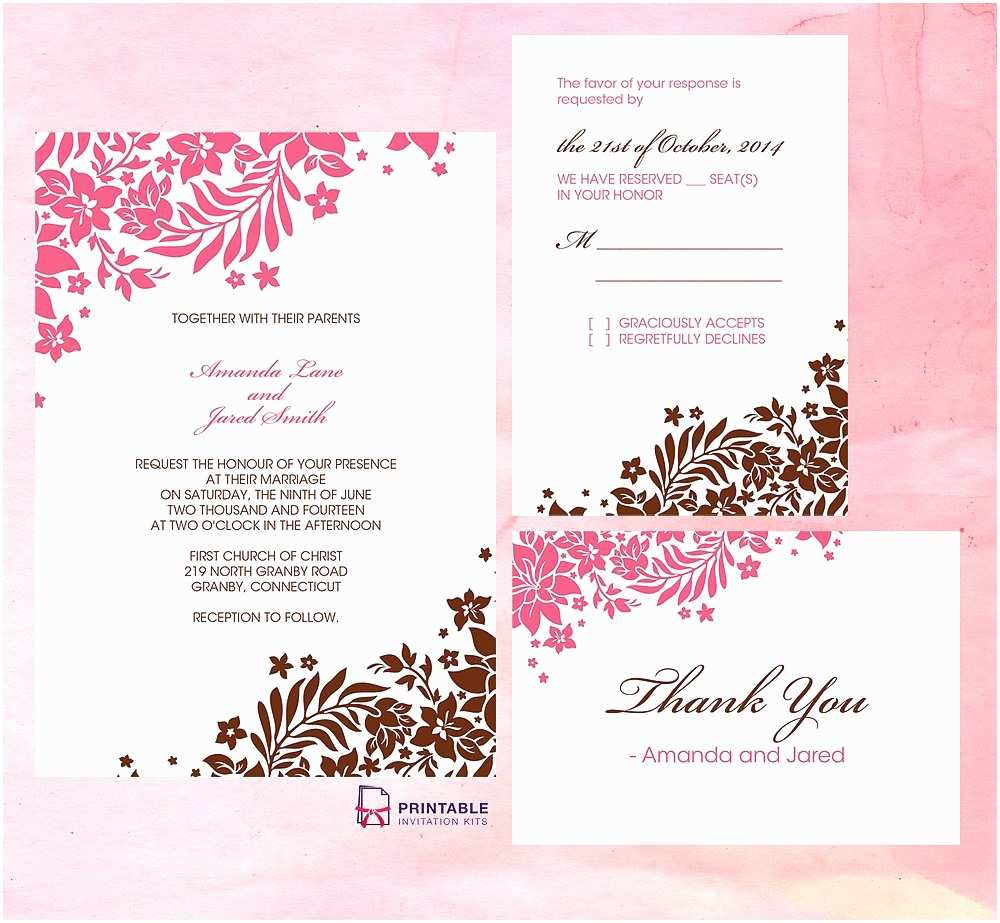 Page Wedding Invitations Wedding Invitation Free Wedding Invitation Templates