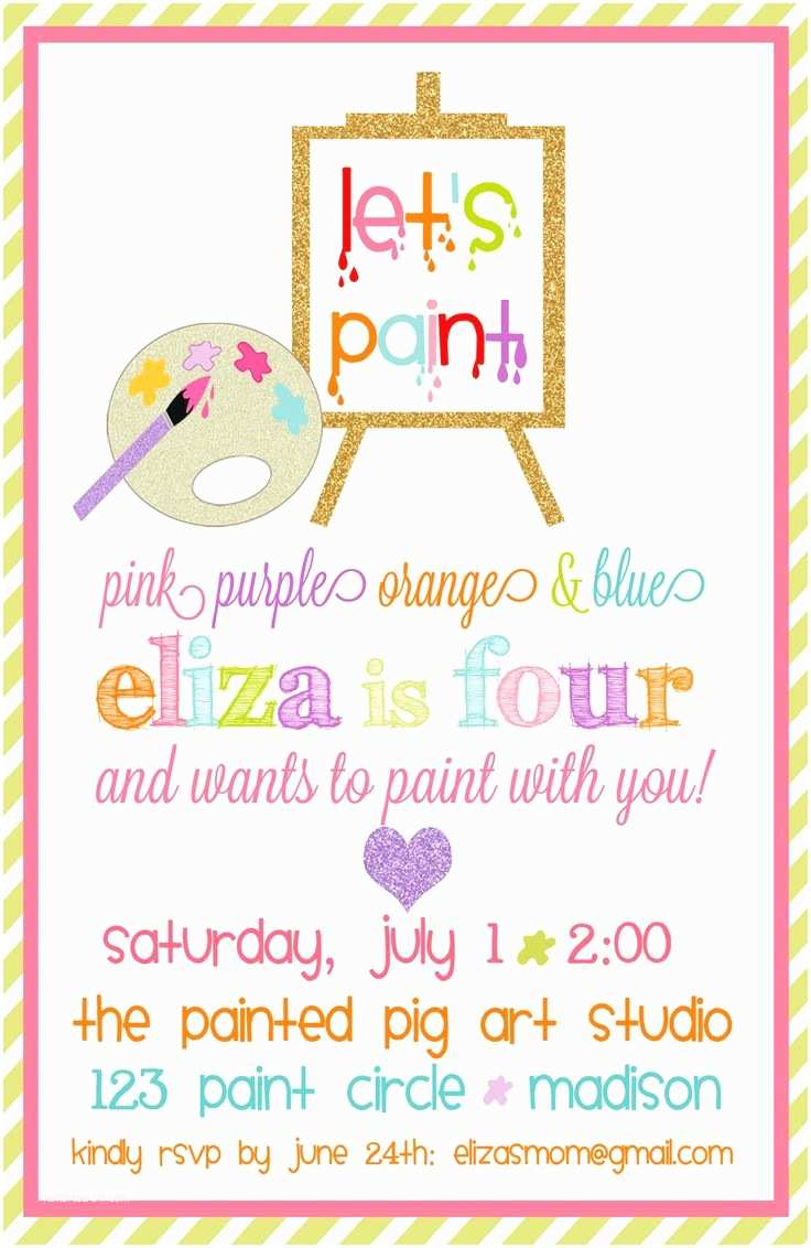 Paint Party Invitations Best 25 Paint Birthday Parties Ideas On Pinterest