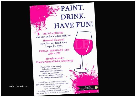 Paint Party Invitations Painting Wine Party Invitation Bachelorette Invitations