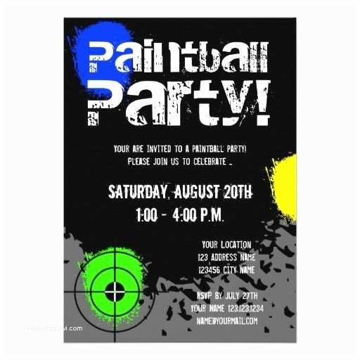 Paintball Party Invitations 126 Best Images About Paint Ball Party On Pinterest