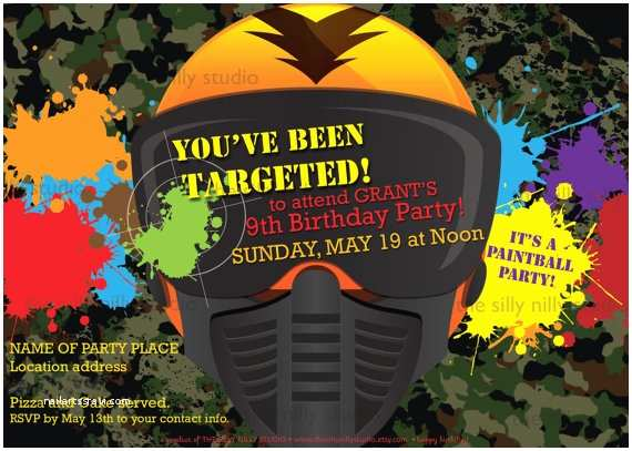 free printable paintball birthday