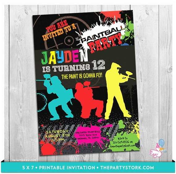 Paintball Party Invitations Paintball Invitation Paintball Party Paintball Birthday