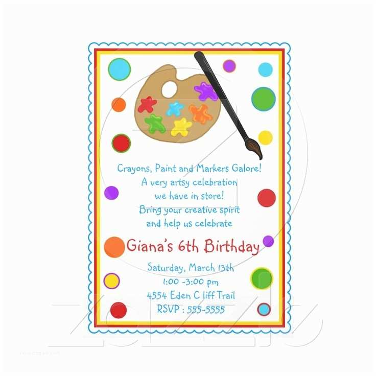 Painting Birthday Party Invitations 17 Best Images About Callie Pottery Birthday On Pinterest