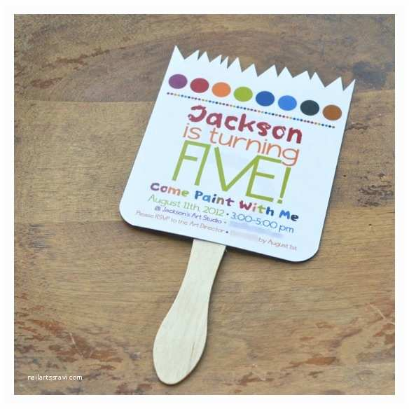 Painting Birthday Party Invitations 5th Birthday Party Planning Paint Party Invitations