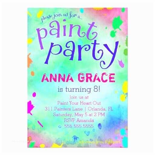 Painting Birthday Party Invitations 9 Best Birthday Party Invitation Ideas Girls & Guys