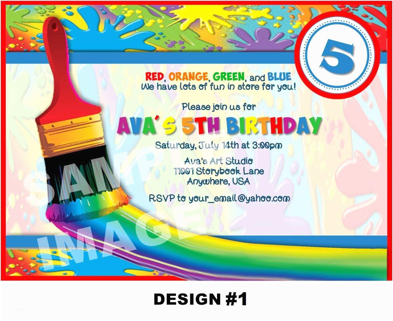 Painting Birthday Party Invitations Art Birthday Party Invitations – Gangcraft