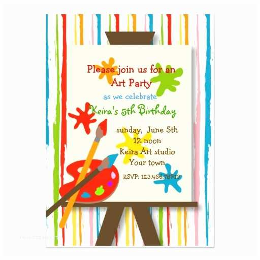 "Painting Birthday Party Invitations Art Crafts Painting Birthday Party Invitations 5"" X 7"