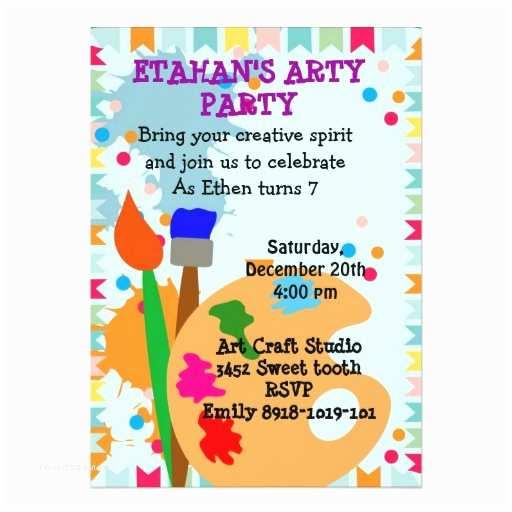 Painting Birthday Party Invitations Art Painting Birthday Party Invitation