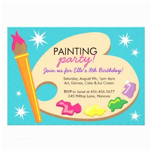 Painting Party Invitations Painting & Art Birthday Party Invitations