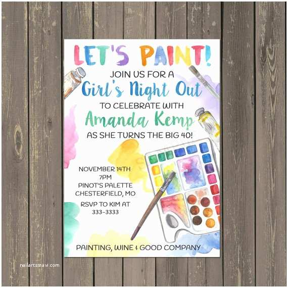 Painting Party Invitations Painting Party Invitation Adult Painting Party Invitation